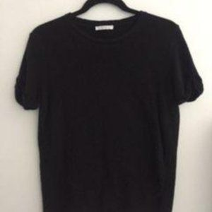FREE WITH $30 PURCHASE Black Basic Knit Tee